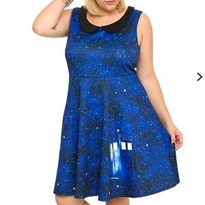 Torrid Dress Size 1 Blue Tardis